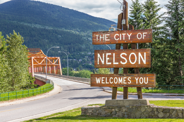 Nelson Welcome Sign
